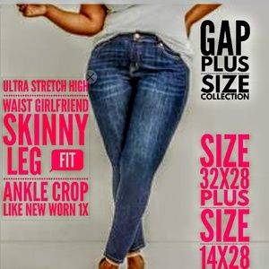 GAP Jeans Size 32/14X28 Ultra Stretch Skinny G.F.